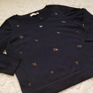 New LOFT Stone Sweater